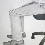 "Detail: Chair 22""x22"" Graphite on Paper 2016"